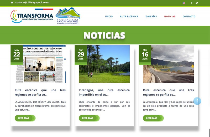 Chile Lagos y Volcanes - WDesign - Diseño Web Profesional