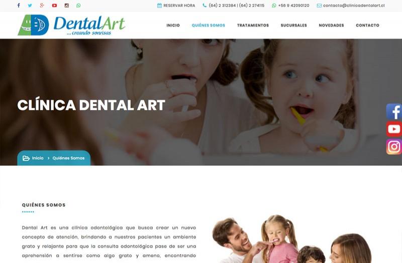 Clínica Dental Art - WDesign - Diseño Web Profesional